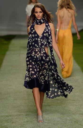 Alternate Image 2  - Topshop Unique 'Uni Spotted' Asymmetrical Cotton Dress