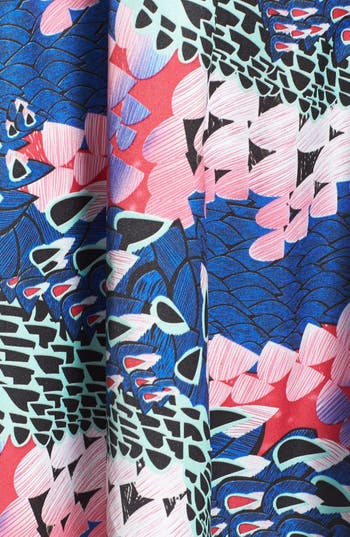 Alternate Image 3  - En Crème Cutout Print Skater Dress (Juniors)