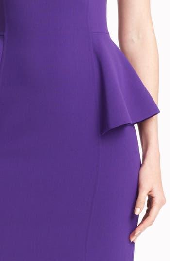 Alternate Image 3  - Michael Kors Peplum Wool Crepe Sheath Dress