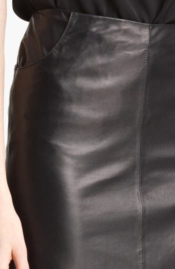 Alternate Image 3  - Armani Collezioni Nappa Leather Pencil Skirt