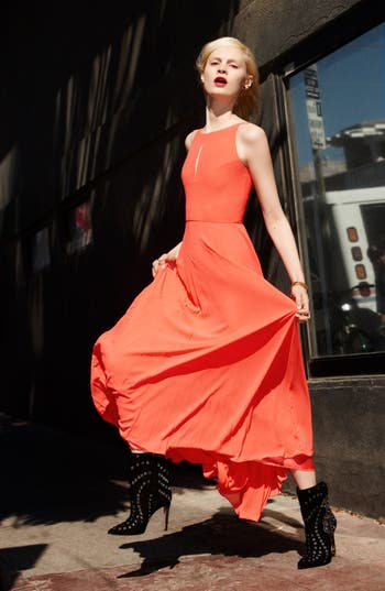 Alternate Image 4  - Like Mynded Pleated Maxi Dress