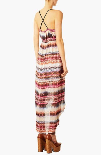 Alternate Image 2  - Topshop Tie Dye High/Low Dress