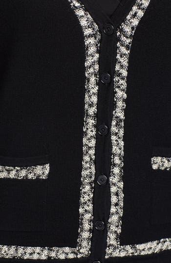 Alternate Image 4  - Classiques Entier® Tweed Trim V-Neck Cardigan