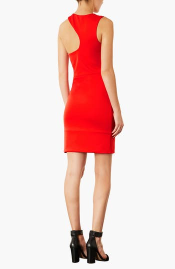 Alternate Image 2  - Topshop Asymmetrical Body-Con Dress
