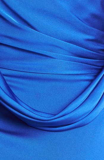 Alternate Image 3  - Aidan Mattox Embellished Draped Satin Sheath Dress (Online Only)