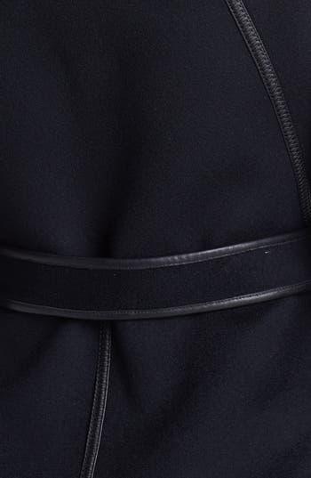 Alternate Image 3  - Dawn Levy 'Harper' Leather Trim Wool Wrap Coat