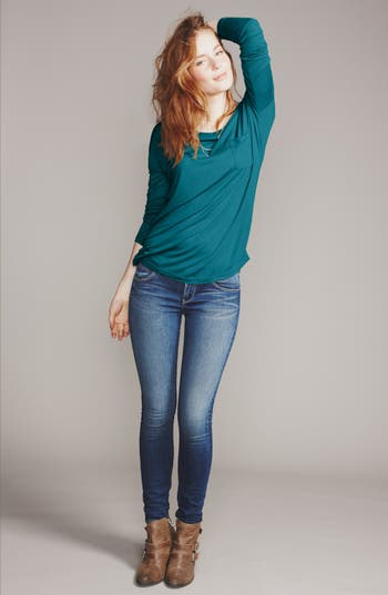 Main Image - Frenchi® Tee & Articles of Society Skinny Jeans
