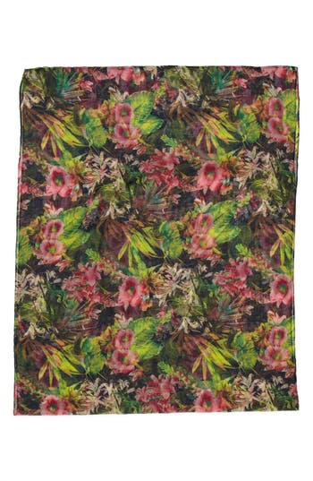 Alternate Image 2  - David & Young Tropical Print Infinity Scarf (Juniors) (Online Only)