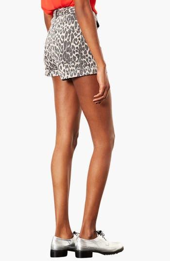 Alternate Image 2  - Topshop Moto Leopard Print Hot Pants
