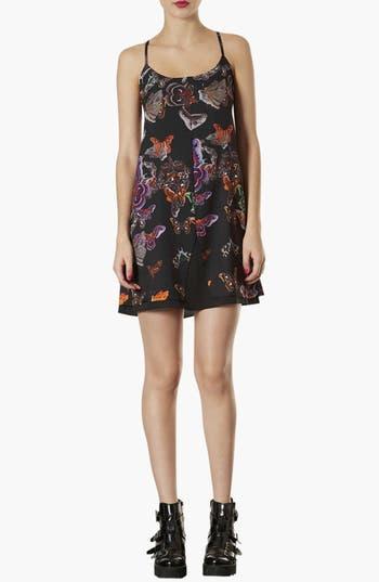 Alternate Image 1 Selected - Topshop Moth Print Slip Dress