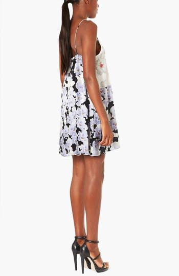 Alternate Image 2  - Topshop Boutique Floral Satin Slipdress