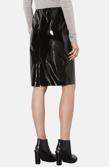 Alternate Image 2  - Topshop Vinyl Pencil Skirt