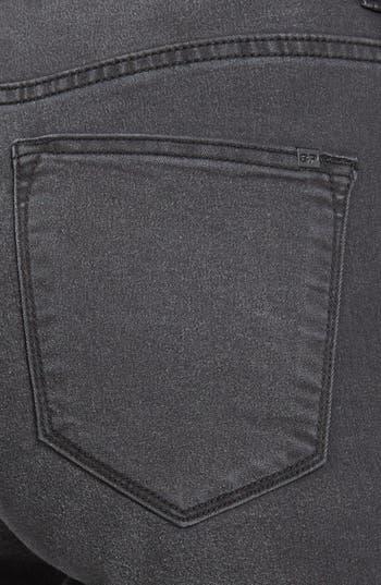 Alternate Image 3  - SP Black High Waist Ankle Zip Skinny Jeans (Dark Grey) (Juniors) (Online Only)