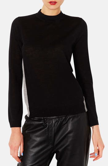 Alternate Image 1 Selected - Topshop Colorblock Merino Wool Sweater