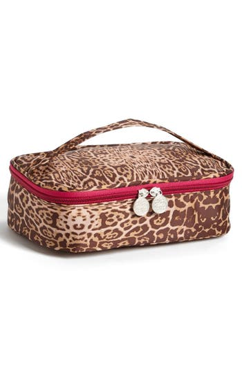 Alternate Image 2  - Tri-Coastal Design 'Leopard' Print Cosmetics Case (Set of 4)