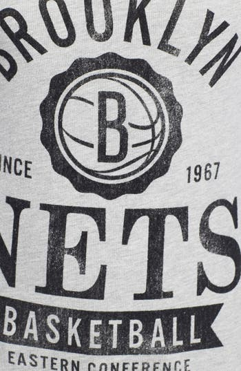Alternate Image 3  - Sportiqe 'Brooklyn Nets' Fitted Hoodie (Juniors) (Online Only)