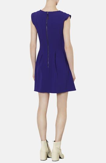 Alternate Image 2  - Topshop Crepe Fit & Flare Dress