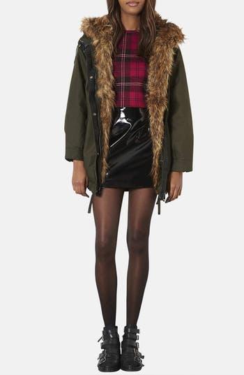 Alternate Image 4  - Topshop 'Monroe' Faux Fur Trim Parka