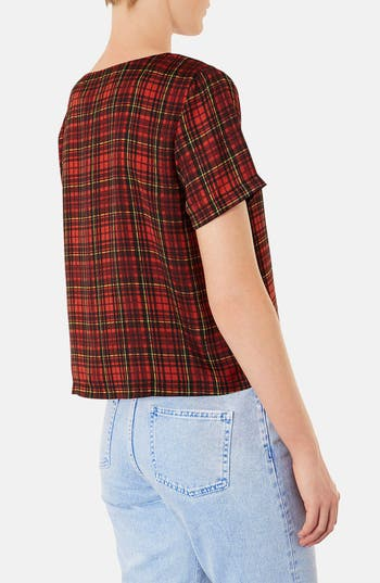 Alternate Image 2  - Topshop Tartan Plaid Tee