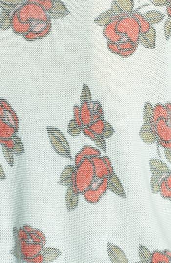 Alternate Image 3  - Frenchi® Floral Print Crop Pullover (Juniors)