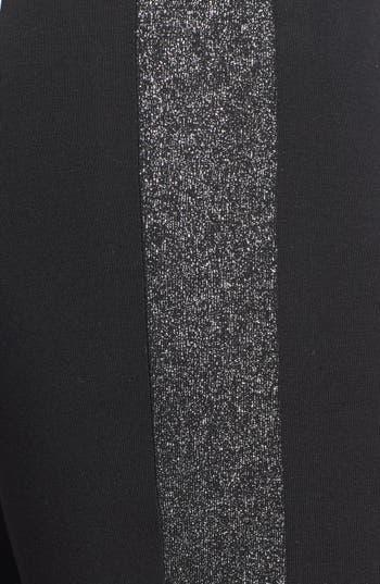 Alternate Image 3  - kate spade new york sparkle tuxedo stripe leggings