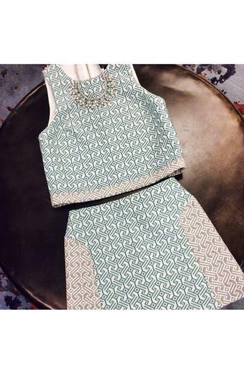 Alternate Image 4  - Topshop Colorblock Jacquard Skirt (Nordstrom Exclusive)