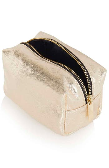 Alternate Image 2  - Topshop Metallic Mini Makeup Bag