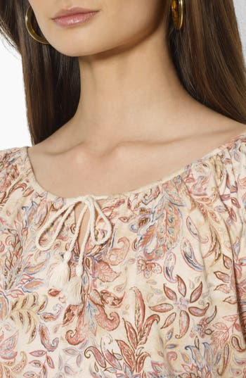 Alternate Image 3  - Lauren Ralph Lauren Tie Neck Peasant Blouse (Petite)