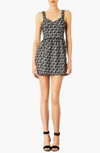 Alternate Image 1 Selected - Topshop Bonded Lace Dress