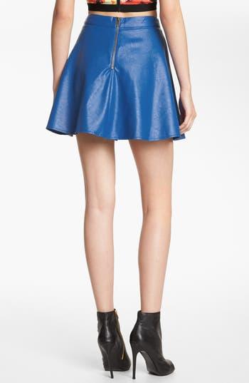 Alternate Image 2  - ASTR Faux Leather Skater Skirt