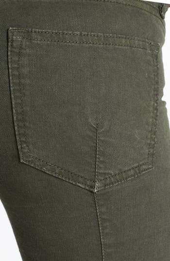 Alternate Image 3  - Vince Skinny Stretch Jeans (Dark Olive)