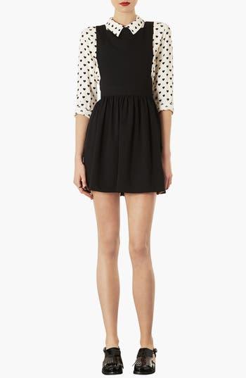 Alternate Image 1 Selected - Topshop 'Wonder' Pinafore Dress