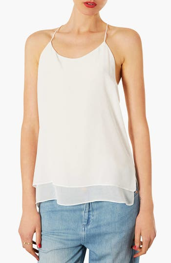 Alternate Image 1 Selected - Topshop Silk Chiffon Camisole