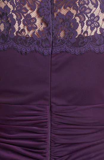 Alternate Image 3  - Xscape Lace Yoke Mesh Gown (Plus Size)