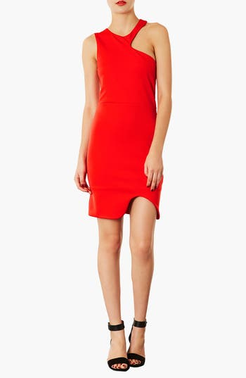 Alternate Image 1 Selected - Topshop Asymmetrical Body-Con Dress