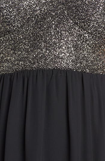 Alternate Image 3  - Trixxi Cutout Back Glitter Bodice Maxi Dress (Juniors)
