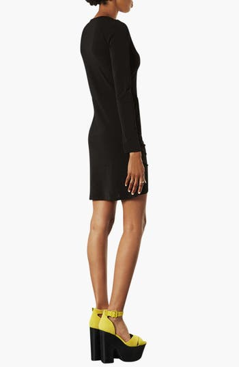 Alternate Image 2  - Topshop Long Sleeve Crepe Dress