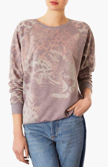 Alternate Image 1 Selected - Topshop Leopard Sweatshirt