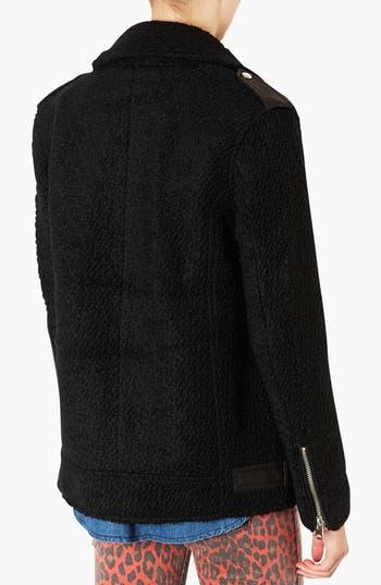 Alternate Image 2  - Topshop Wool Moto Jacket