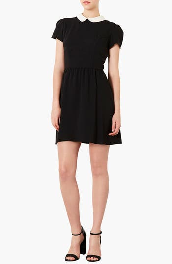 Alternate Image 1 Selected - Topshop 'Florence' Peter Pan Collar Dress
