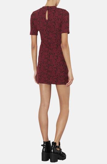 Alternate Image 2  - Topshop Mock Neck Floral Jacquard Dress (Petite)