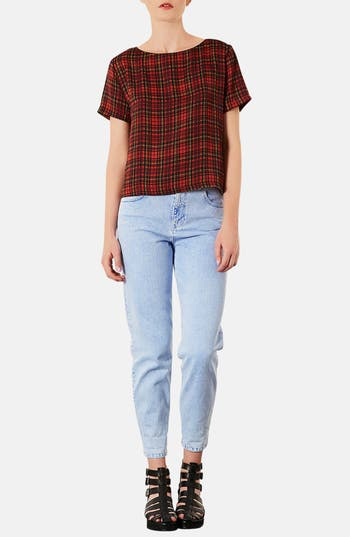 Alternate Image 4  - Topshop Tartan Plaid Tee