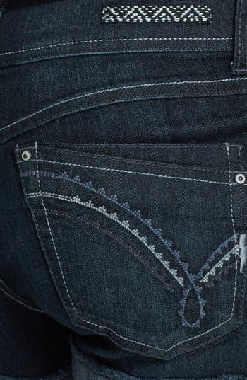 Alternate Image 3  - Jolt Cuff Denim Shorts (Dark) (Juniors) (Online Only)