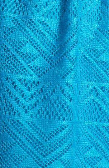 Alternate Image 3  - Socialite Geometric Open Knit Skater Dress (Juniors)