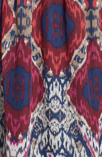 Alternate Image 3  - Secret Charm Ikat Chiffon Maxi Dress (Juniors)