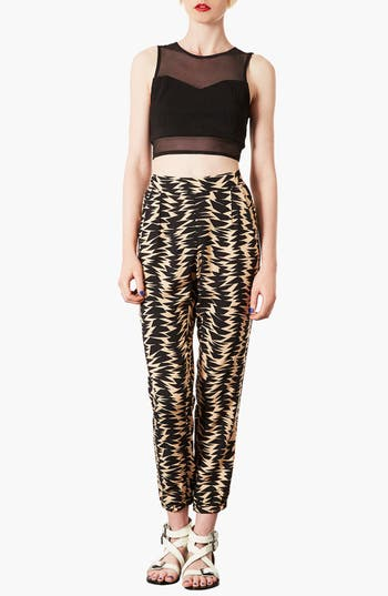 Alternate Image 4  - Topshop Geometric Print Jogging Pants