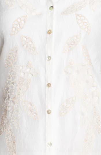 Alternate Image 3  - Nic + Zoe 'Embroidered Shores' Shirt (Petite)