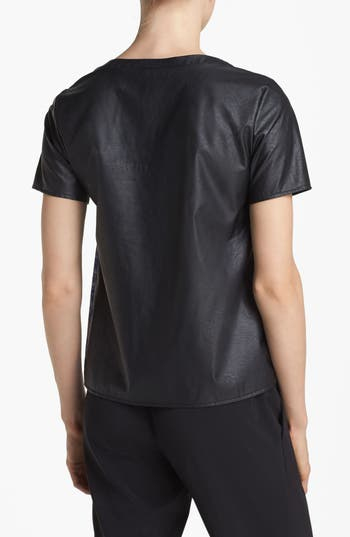 Alternate Image 2  - ASTR Faux Leather Back Tee