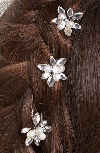 Alternate Image 2  - Untamed Petals by Amanda Judge 'Kyle' Hairpins (Set of 3)