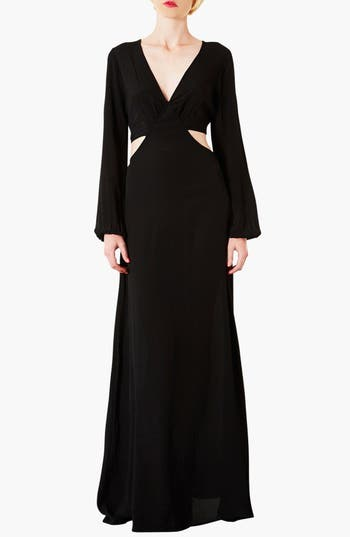 Alternate Image 1 Selected - Topshop Cutout Waist Jersey Gown